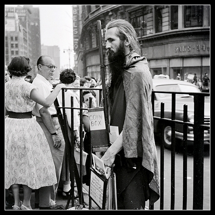 Portrait of Moondog at Herald Square