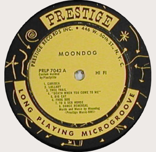 1956 - Moondog Caribea - Face A