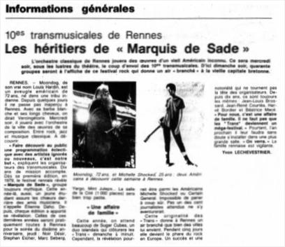Ouest France du 29/11/1988