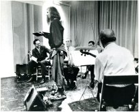 Moondog and musicians from the New York Philharmonic Orchestra,