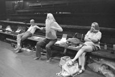 Saxophonist, Moondog and Ilona in Stockholm 1986