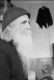 Moondog at Stefan's home Stockholm 1986