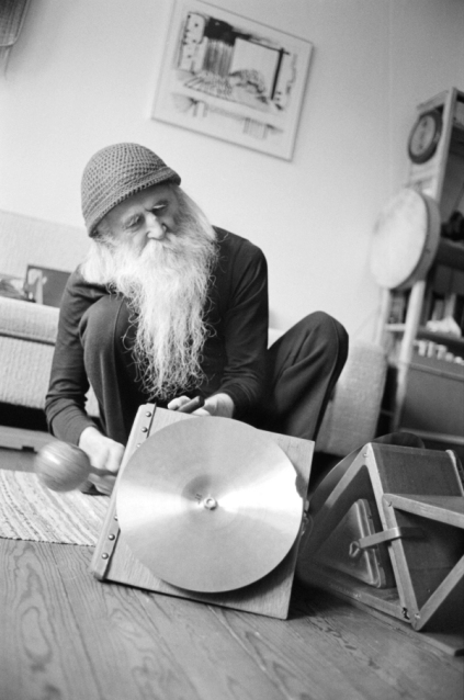 Moondog at Stefan Lakatos' home Stockholm 1986